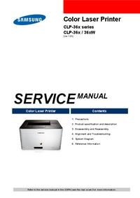 Serviceanleitung Samsung CLP-36x Series