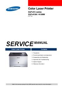 Service Manual Samsung CLP-415N