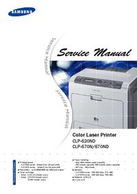 Manual de serviço Samsung CLP-670N