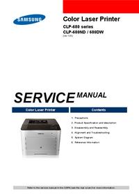 manuel de réparation Samsung CLP-680 series