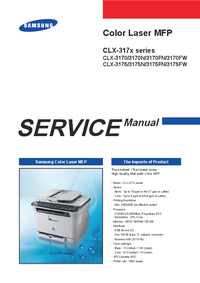 Service Manual Samsung CLX-317x series