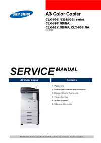 Service Manual Samsung CLX-9301 series