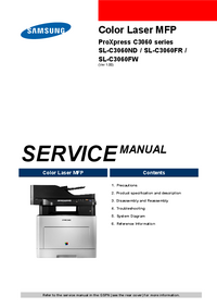 Service Manual Samsung ProXpress C3060 Series