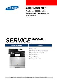 Manuale di servizio Samsung ProXpress C3060 Series