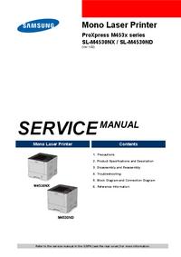 Руководство по техническому обслуживанию Samsung SL-M4530ND