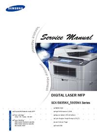 Manuale di servizio Samsung SCX-5835NX Series