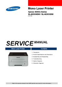 manuel de réparation Samsung SL-M2830DW