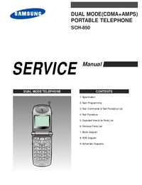 Руководство по техническому обслуживанию Samsung SCH-850