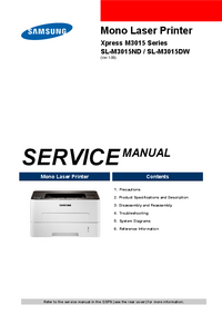 Service Manual Samsung SL-M3015ND