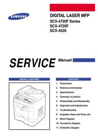 Service Manual Samsung SCX-4720F Series