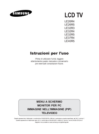 User Manual Samsung LE26R5