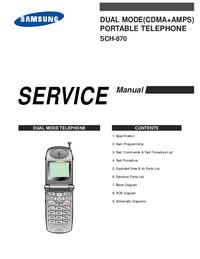 manuel de réparation Samsung SCH-870