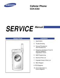 Instrukcja serwisowa Samsung SCH-A302