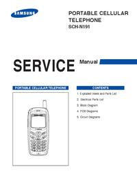 Service Manual Samsung SCH-N191