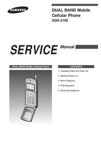 Manual de serviço Samsung SGH-2100