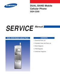 Руководство по техническому обслуживанию Samsung SGH-2200