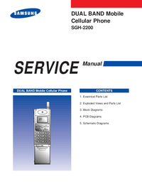 Servicehandboek Samsung SGH-2200
