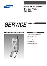 Руководство по техническому обслуживанию Samsung SGH-2488