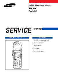 Serviceanleitung Samsung SGH-500