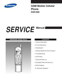 Manuale di servizio Samsung SGH-600