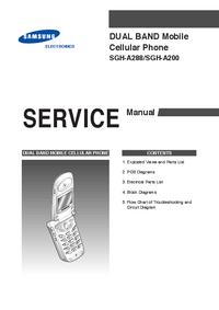Manual de serviço Samsung SGH-A200