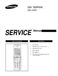 Service Manual Samsung SGH-A500
