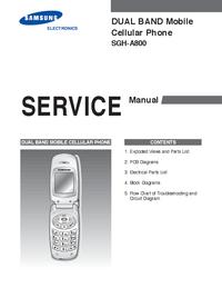 Serviceanleitung Samsung SGH-A800