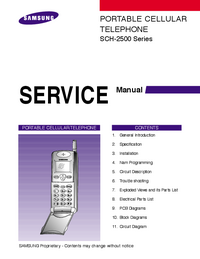 Service Manual Samsung SCH-2500 Series