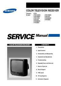 Service Manual Samsung CT5038ZX