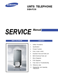 Serviceanleitung Samsung SGH-F330