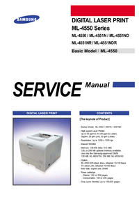 Service Manual Samsung ML-4551ND