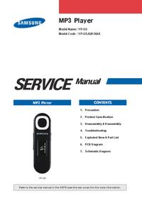 Servicehandboek Samsung YP-U5