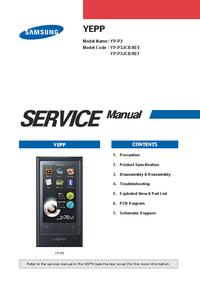 Manuale di servizio Samsung YEPP YP-P3
