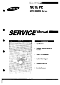 Manual de servicio Samsung SENS 820 Series