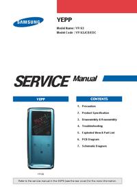 Manual de serviço Samsung YEPP YP-S3