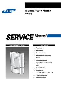 Manual de servicio Samsung YP-30S