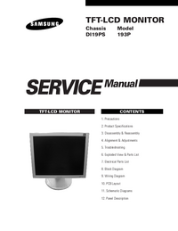 Service Manual Samsung 193P