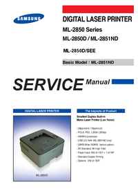 Servicehandboek Samsung ML-2851ND