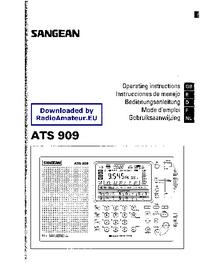 Bedienungsanleitung Sangean ATS 909