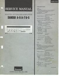 Service Manual Sansui A-9