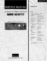 Instrukcja serwisowa Sansui AU-717