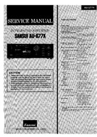 Manuale di servizio Sansui AU-G77X