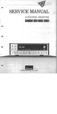 Руководство по техническому обслуживанию Sansui QRX-8001
