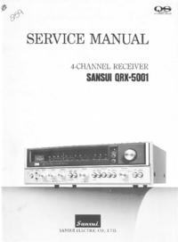 Service Manual Sansui QRX-5001