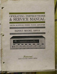 Serwis i User Manual Sansui 1000A