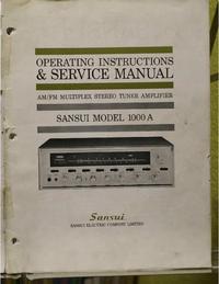 Service et Manuel de l'utilisateur Sansui 1000A