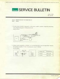 Service Manual Supplement Sansui 2000A