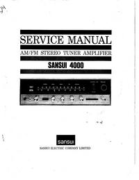 Service Manual Sansui 4000