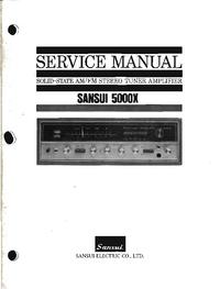 Manual de serviço Sansui 5000X