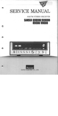 Service Manual Sansui 890DB